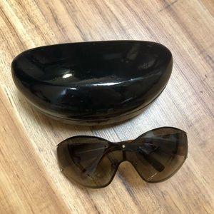 ferragamo rhinestone sunglasses with case